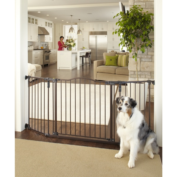 North States Extra-Wide Metal Windsor Arch Pet Gate