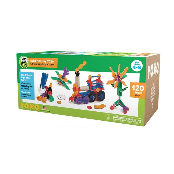 PBS KIDS Build It Kit 120-piece Creative Construction Toy by YOXO