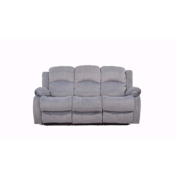 Traditional Brushed Microfiber Reclining Sofa