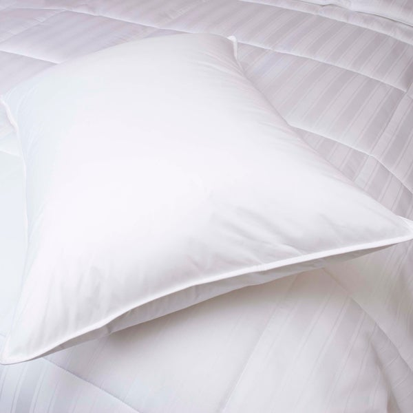 Medium Density Back Sleeper White Goose Down Pillow