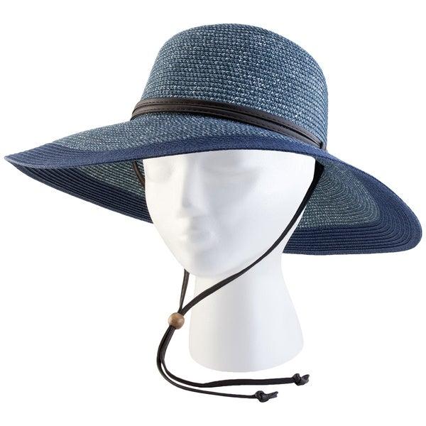 Sloggers 442GB Medium Women's Grey & Blue Wide Brim Hat