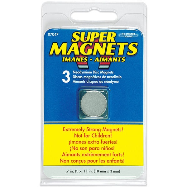 Master Magnetics 07047 Neodymium Disc Magnets 3 Count