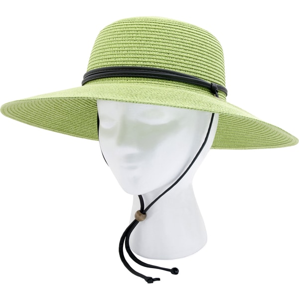 Sloggers 442TG Women's Green Braided Sun Hat With 50+ UPF
