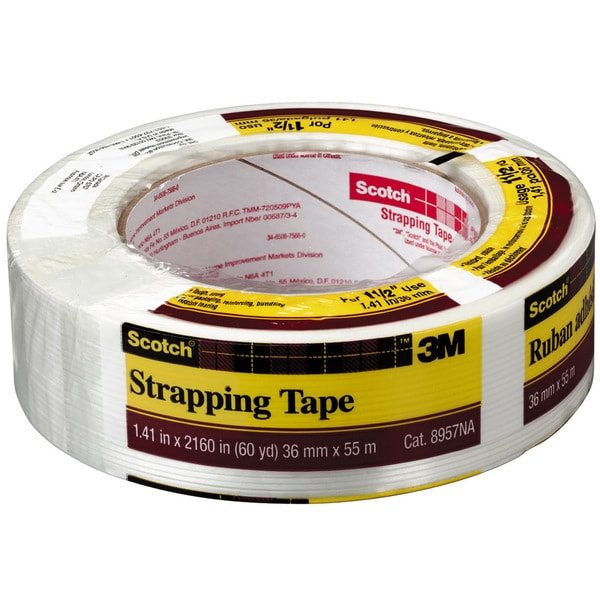 "3M 8957-36MM 1-1/2"" x 60 Yds Scotch Strapping Tape"