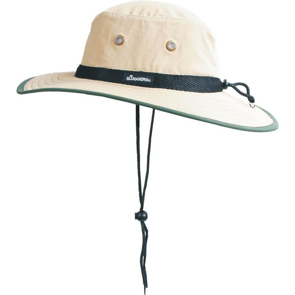 Sloggers 446TN Tan & Dark Green Nylon Sun Hat