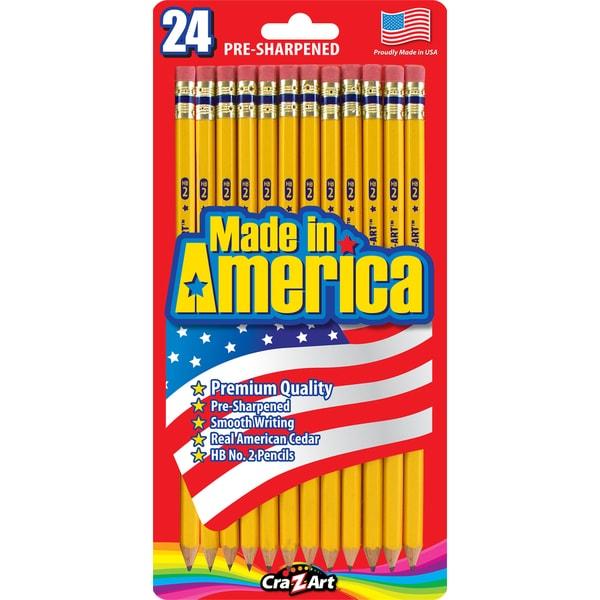 Cra-Z-Art 12005 #2 Yellow Pre Sharpened Pencils 24 Count