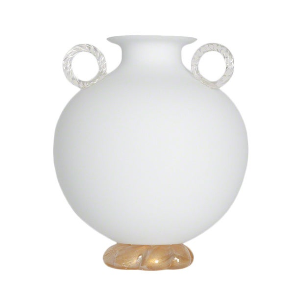 Lido Frosted White Vase