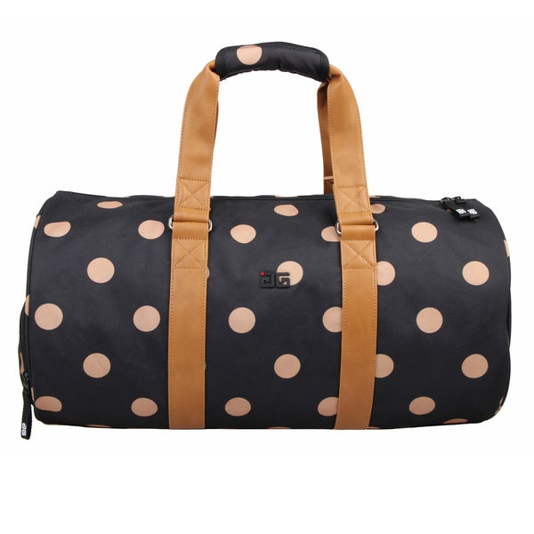 AfterGen City Sports Black/Brown Polyester Polk-dDot Duffel Bag