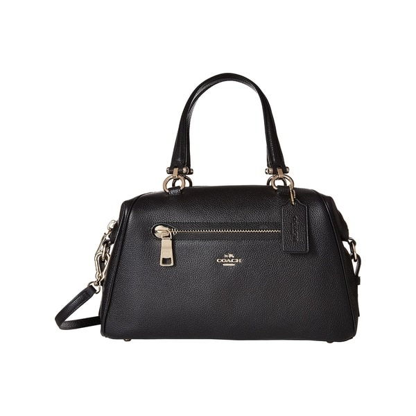 Coach Primrose Black Pebbled Leather Satchel Handbag