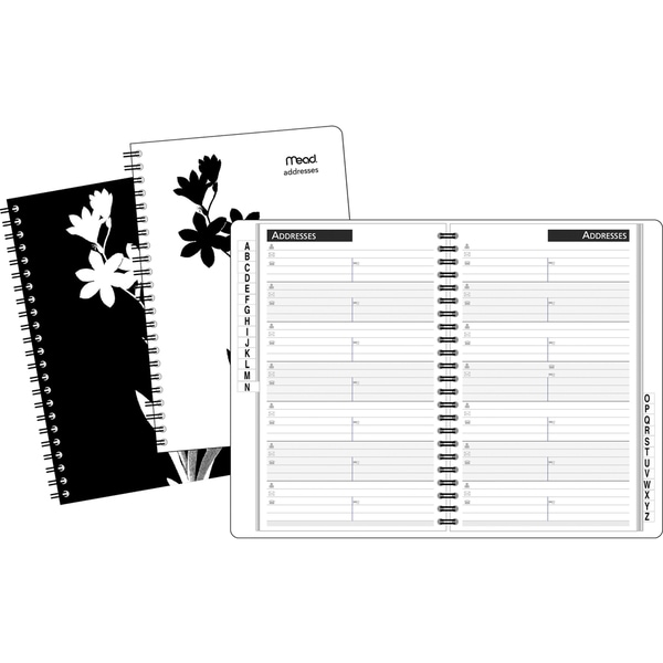 MeadWestvaco TL420210 Floral Silhouette Address Book
