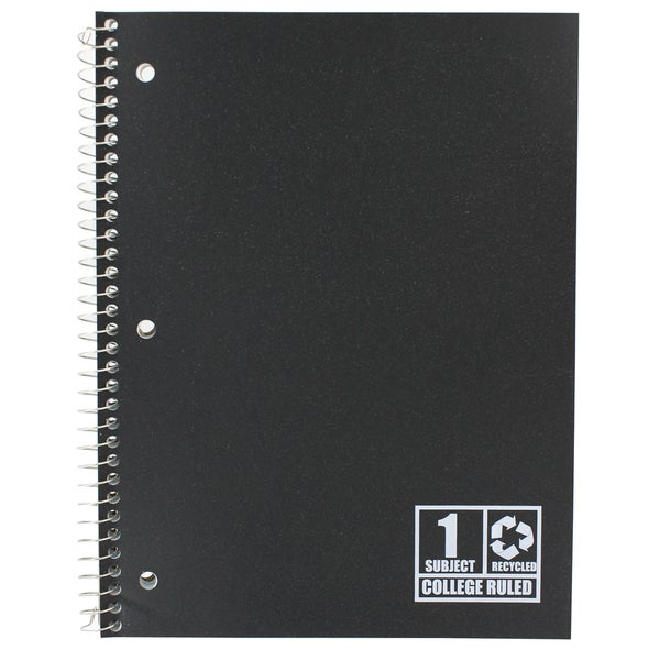 "Norcom 77871-24 10.5"" X 8"" 1 Subject College Ruled Notebook Assorted Colors"