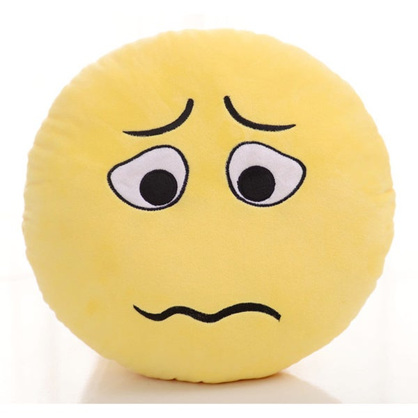 Emoji Plush Expression Pillow - Curl Lip Face