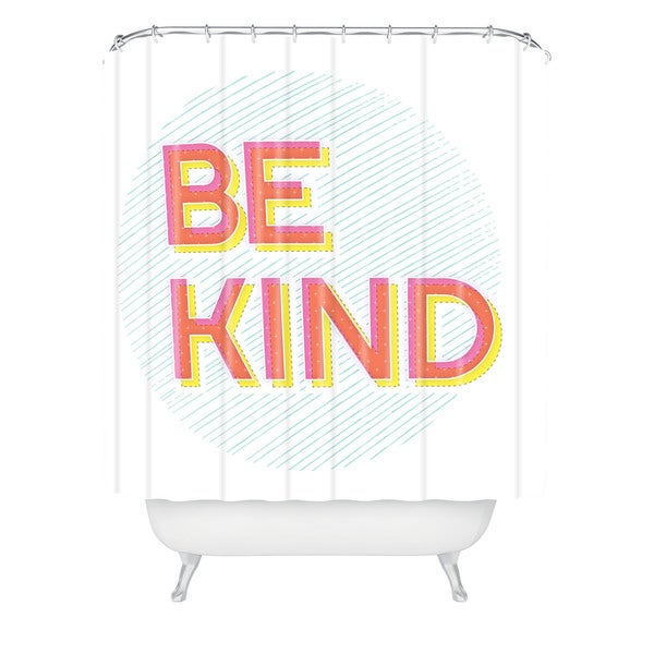 Gabi Be Kind Shower Curtain