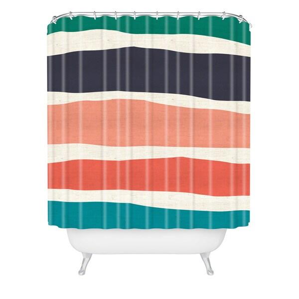 Zoe Wodarz Paper Stripe Shower Curtain