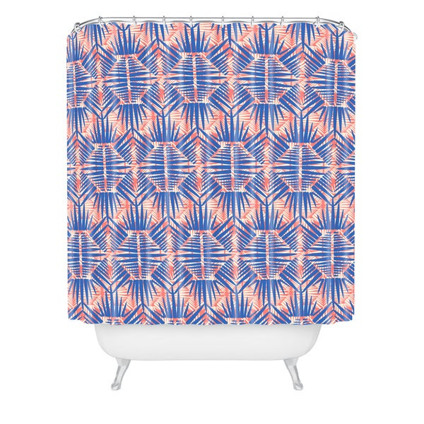 Zoe Wodarz Hot Tropic Blues Shower Curtain