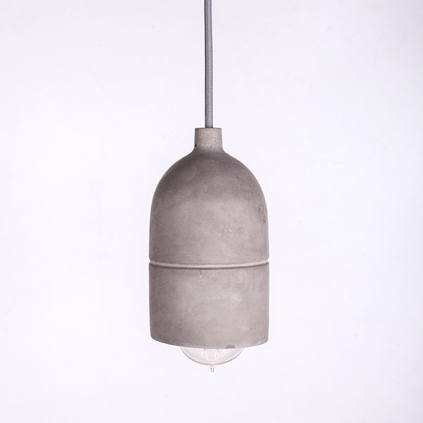 Concrete Bottle Shade Vintage Mini Pendant Light