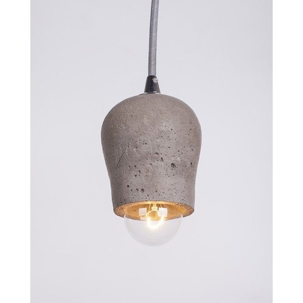Grey Cement Mini 1-light Pendant Light