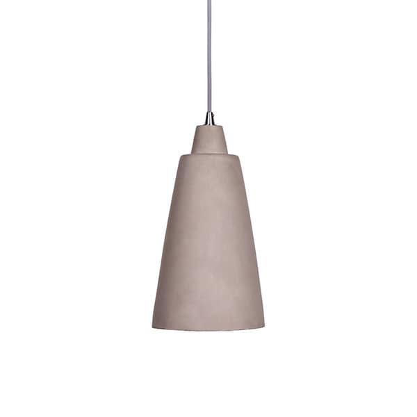 Concrete Pendant Light with Loudspeaker-Shape Shade