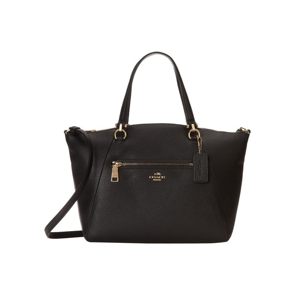 Coach Prairie Black Leather Satchel Handbag