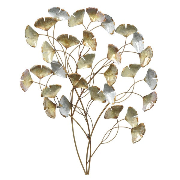 Three Hands 10117 Metal Gingko Leaf Wall Art