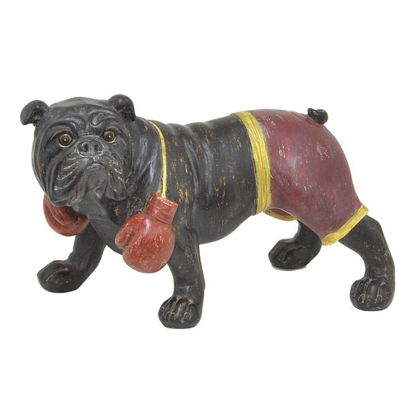 Three Hands 24329 Dog Figurine Black Boxer
