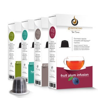 Gourmesso Tea Bundle with 50-200 Nespresso Compatible TEA Capsules
