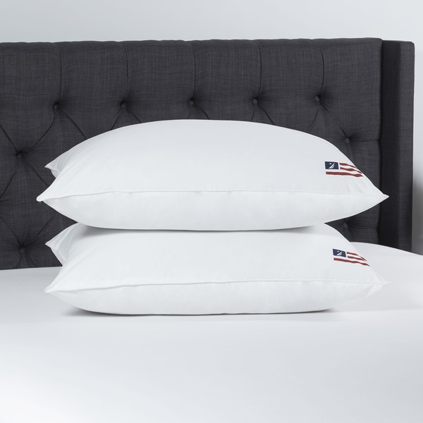 Nautica Cotton Flag Down Alternative Jumbo-size Pillow (Set of 2)