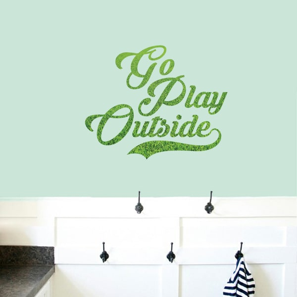 Go Play Outside Printed Wall Decal