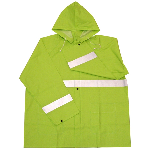 Boss Rainwear 3PR0350NJ Fluorescent Green Rain Jacket