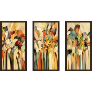 """Mark Lawrence """"Genesis 19 15 Ik"""" Framed Plexiglass Wall Art Set of 3"""