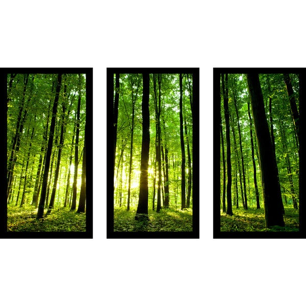 """Enlighten Me"" Framed Plexiglass Wall Art Set of 3"
