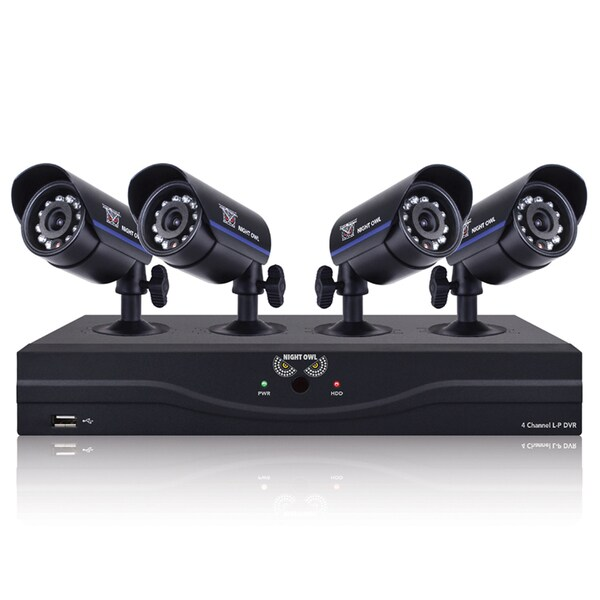 Night Owl 4-channel 960H DVR With HDMI, 500-gigabyte Hard Drive, and 4 x 480 TVL Cameras With 30-foot Night Vision