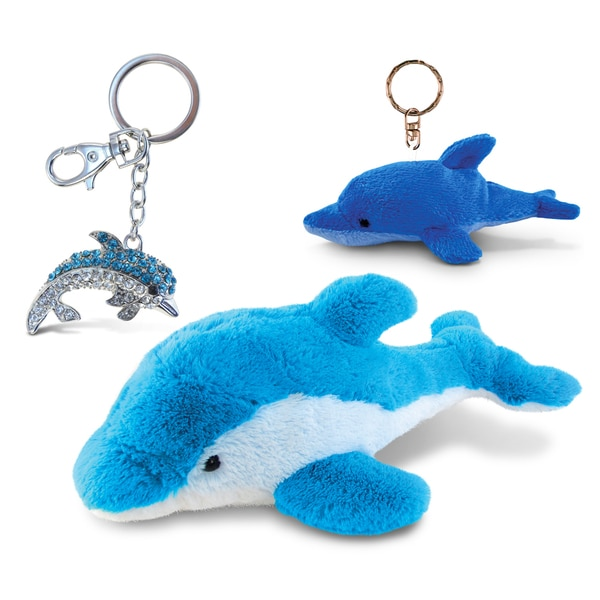 Puzzled Dolphin Super Soft Plush, Plush Keychain and Sparkling Charm 21240196