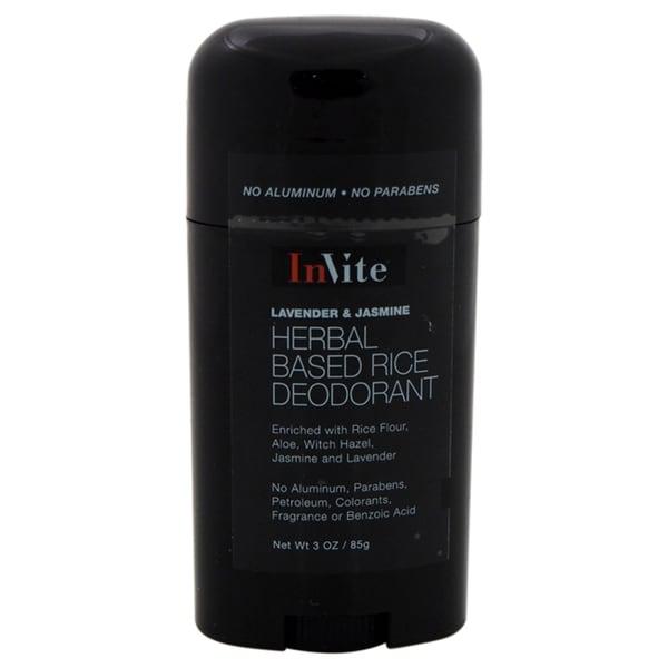 InVite Health Natural Rice Deodorant Stick Lavender & Jasmine