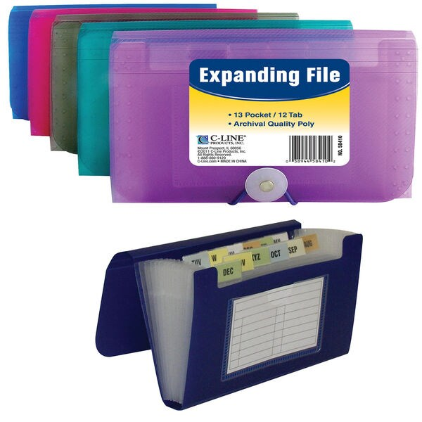 Coupon Size 13 Pocket Expanding File - C Line Products Inc 58410