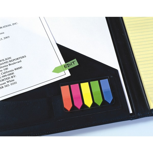 Redi Tag 31118 Multicolor See Notes Arrows On Clear-Clip Holder