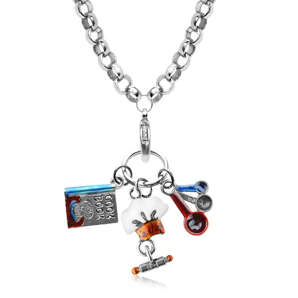 Chef Charm Necklace in Silver