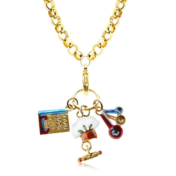 Chef Charm Necklace in Gold