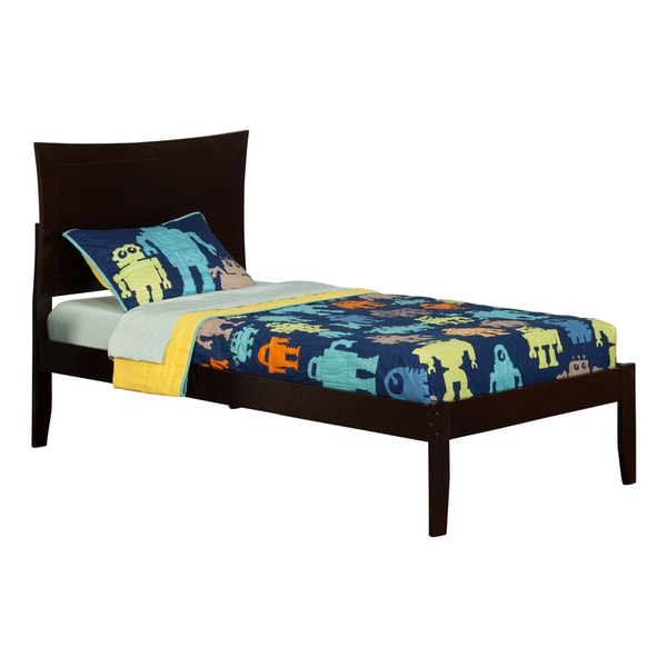 Atlantic Metro Espresso Open-foot Twin Bed 21241667