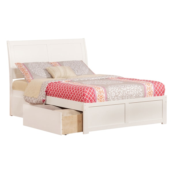 Portland White Panel Full-size Storage Bed