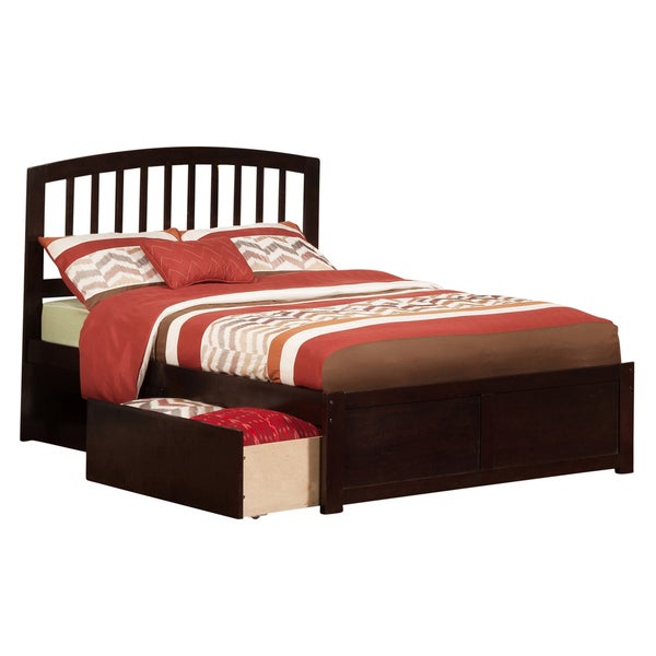 Richmond Espresso Full Flat Panel Foot Board with 2 Urban Bed Drawers