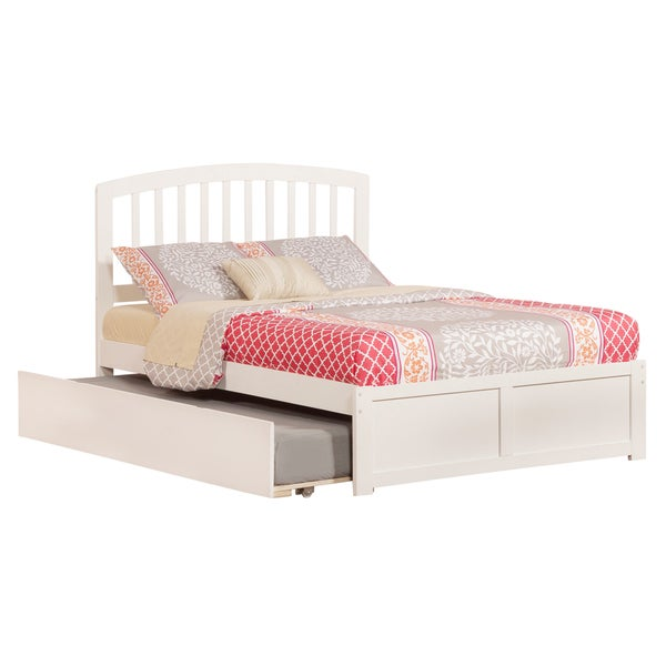 Richmond White Full-size Flat Panel Trundle Bed with Foot Board