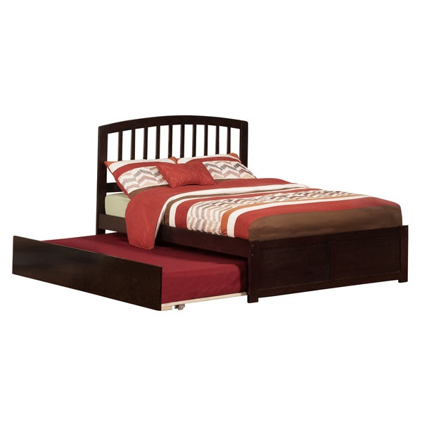 Atlantic Kids' Richmond Espresso Full Flat Panel Footboard Platform Bed with Urban Trundle