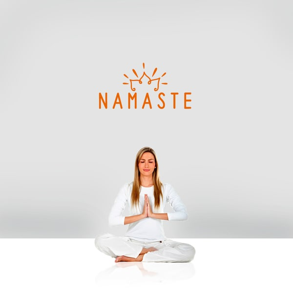 "Namaste Wall Decal - 24"" wide x 12"" tall"