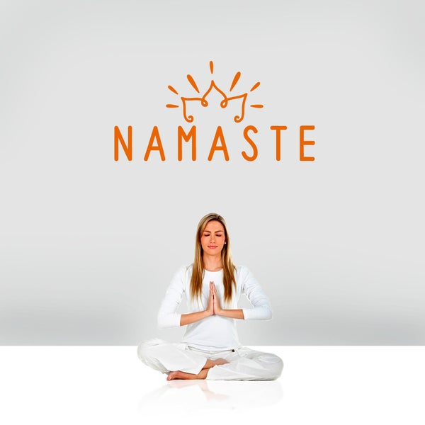 "Namaste Wall Decal - 36"" wide x 18"" tall"