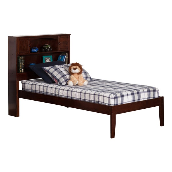 Atlantic Newport Walnut Twin XL-size Open-foot Bed
