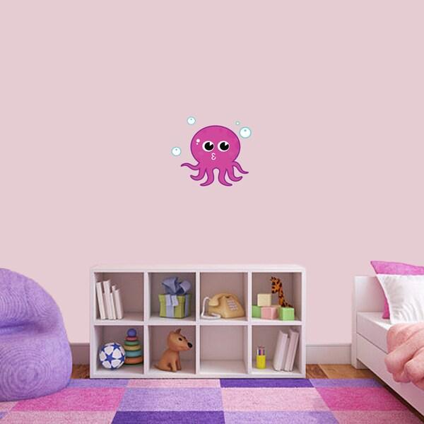 Pink Octopus Printed