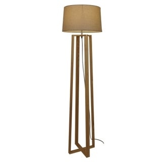 Caspar Natural Wood Floor Lamp