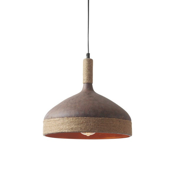 Thomas Brown Jute Iron Pendant Lamp