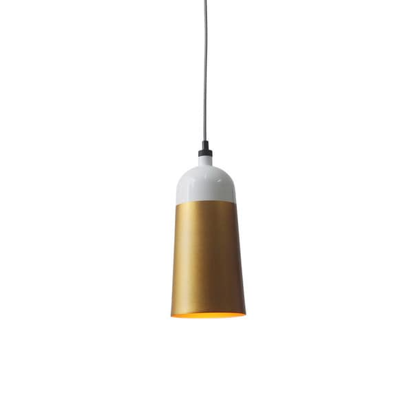 Requiem Goldtone Iron 1-light Pendant Lamp